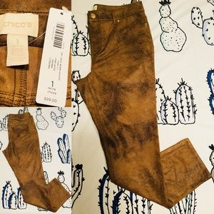 Chico's Knit Suede Pants